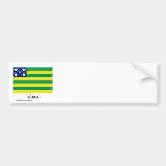 Goiás, Brazil Flag Bumper Sticker