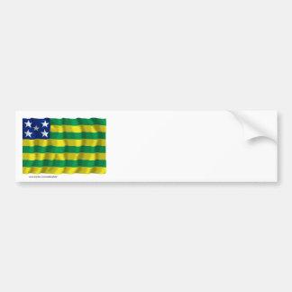 Goiás, Brazil Waving Flag Bumper Sticker