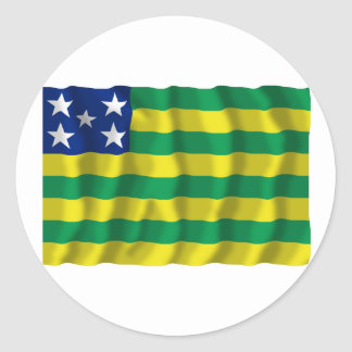 Goiás, Brazil Waving Flag Round Sticker