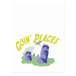 Goin' Places Postcard