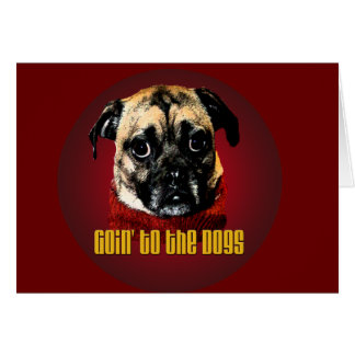 goin' to the dogs greeting card