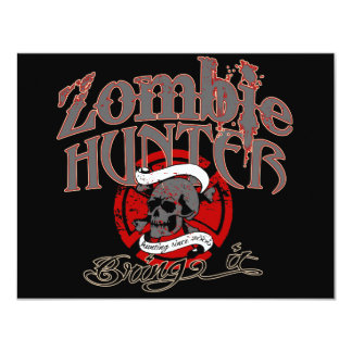 Going after Zombies! 11 Cm X 14 Cm Invitation Card