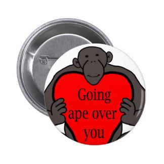 Going Ape 6 Cm Round Badge