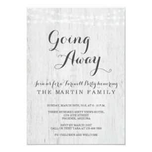Going Away Party Invitations Announcements Zazzle Uk