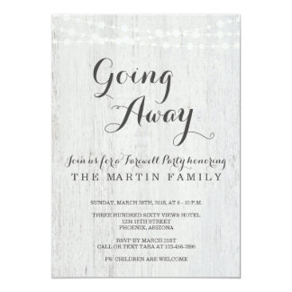 Going Away Party Invitation | Rustic Romantic