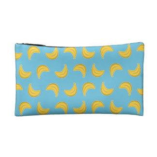 Going Bananas in Blue Cosmetic Bag