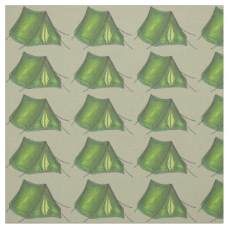Going Camping Campground Tent Camp Fabric