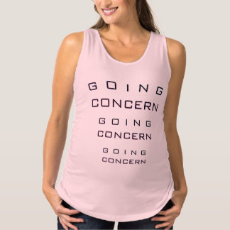 """Going Concern"" Maternity Tank Top"