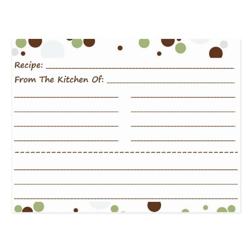 Going Dotty Blank Recipe Cards Postcard
