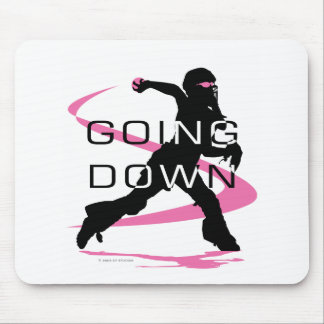 Going Down Pink Catcher Softball Mouse Pad