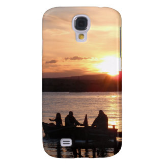Going Fishing At Sunset HTC Vivid Covers