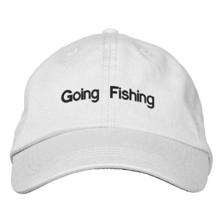 Going Fishing Embroidered Baseball Cap