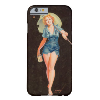 Going Fishing Pin Up Art Barely There iPhone 6 Case