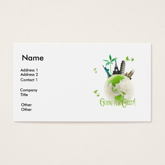 Going for Green! Business Card