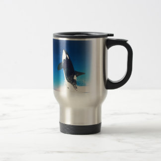 Going for the Breach Killer Whale Stainless Steel Travel Mug