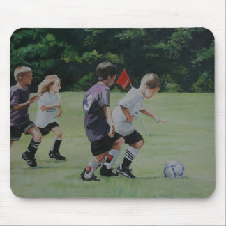 Going for the Goal Art Reproduction Mouse Pad
