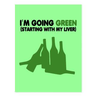 Going green,beer postcard