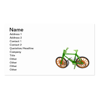 Going Green Bicycle Wood Grass Pack Of Standard Business Cards