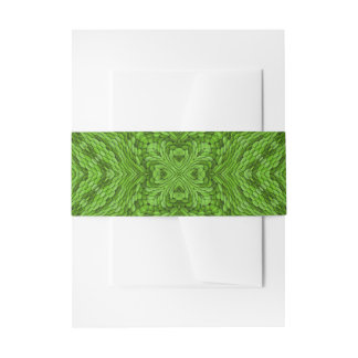 Going Green Colorful Invitation Belly Band