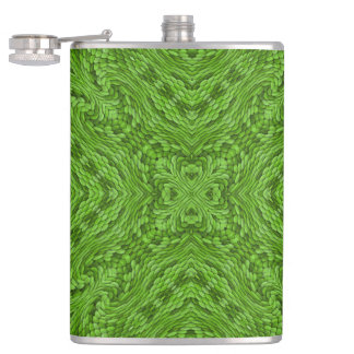 Going Green Colorful Vinyl Wrapped Flasks
