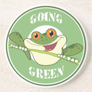 Going Green Frog Coaster