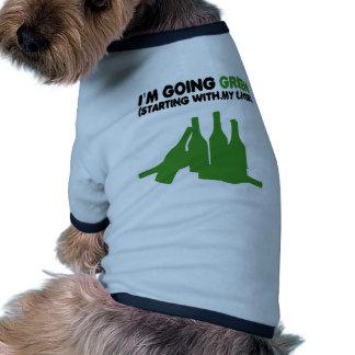 Going green funny beer pet tshirt