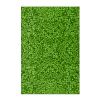 Going Green Kaleidoscope   Acrylic Wall Art