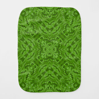 Going Green Kaleidoscope  Burp Cloth