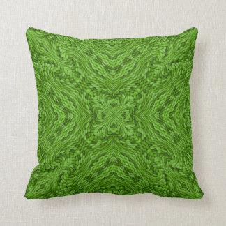 Going Green Kaleidoscope Pattern Throw Pillows