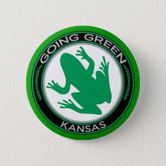 Going Green Kansas Frog 6 Cm Round Badge