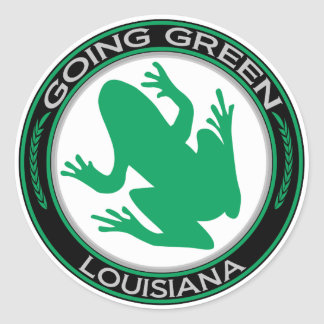Going Green Louisiana Frog Classic Round Sticker