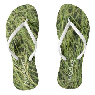 Going green Nature Balance Grass Flip Flops