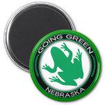 Going Green Nebraska Frog 6 Cm Round Magnet