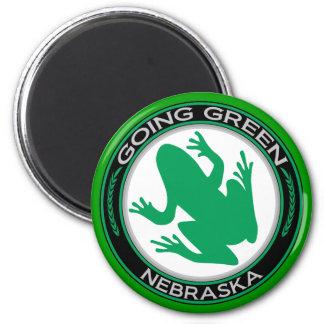 Going Green Nebraska Frog Magnet
