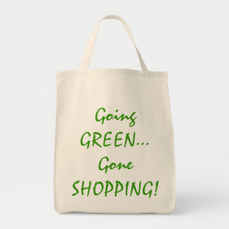 Going Green Organic Grocery Tote Grocery Tote Bag