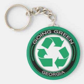 Going Green Recycle Georgia Key Ring