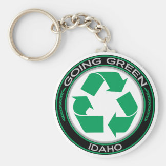 Going Green Recycle Idaho Key Ring