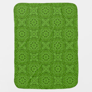 Going Green  Tiled Design Baby Blankets