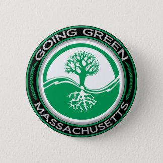 Going Green Tree Massachusetts 6 Cm Round Badge