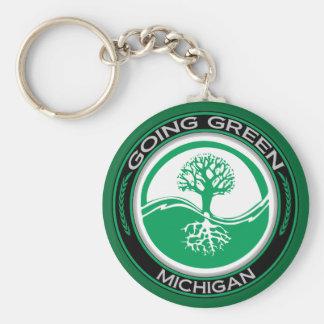 Going Green Tree Michigan Key Ring