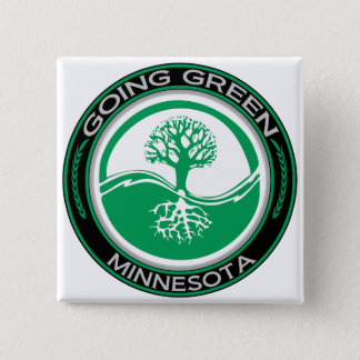 Going Green Tree Minnesota 15 Cm Square Badge