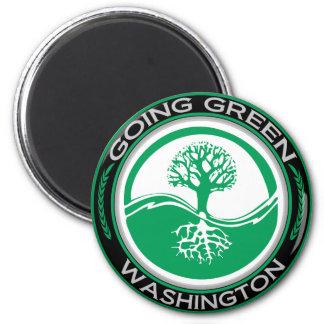Going Green Tree Washington Magnet