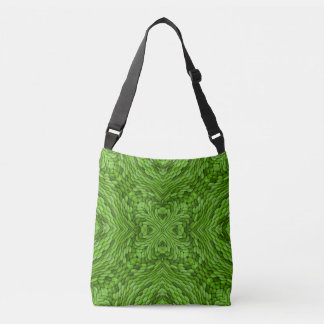 Going Green Vintage Kaleidoscope  Cross Body Bag