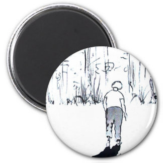 GOING HOME 6 CM ROUND MAGNET