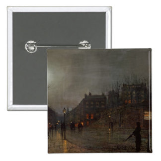 Going Home at Dusk, 1882 15 Cm Square Badge