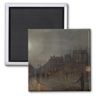 Going Home at Dusk, 1882 Square Magnet