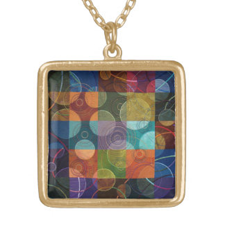 Going in Circles Square Pendant Necklace
