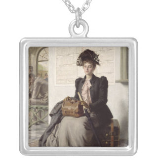 Going into the World Silver Plated Necklace
