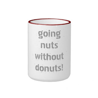 going nuts without donuts! ringer mug