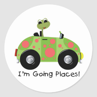 GOING PLACES FROG STICKER